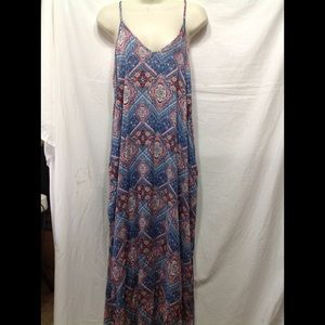 Women's NWT size Large XHILARATION maxi dress